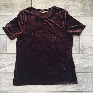 Chico's Crushed Velvet Top